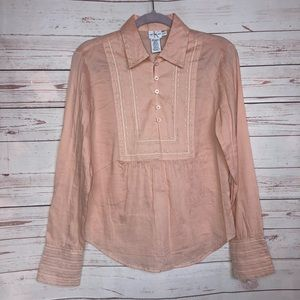 Calvin Klein Embroidered Tunic Top Size S